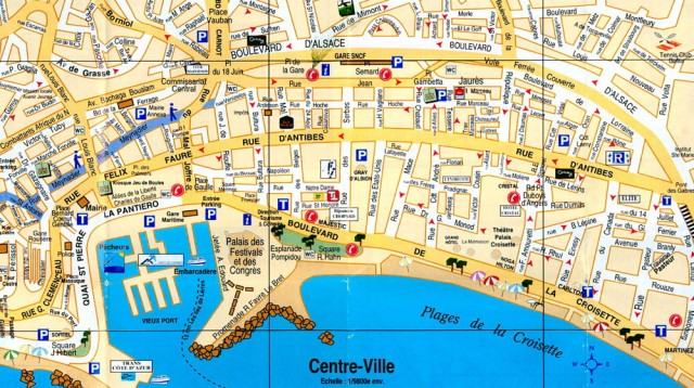 Riviera Cannes Map – Travel Map Of France